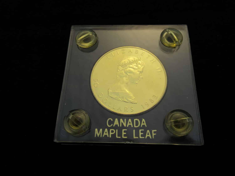 מטבע זהב 50 דולר קנדי, 1983.