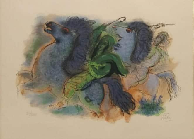 Reuven Rubin (1893 -1974) was a Romanian-born Israeli painter and Israel's first ambassador to Romania.